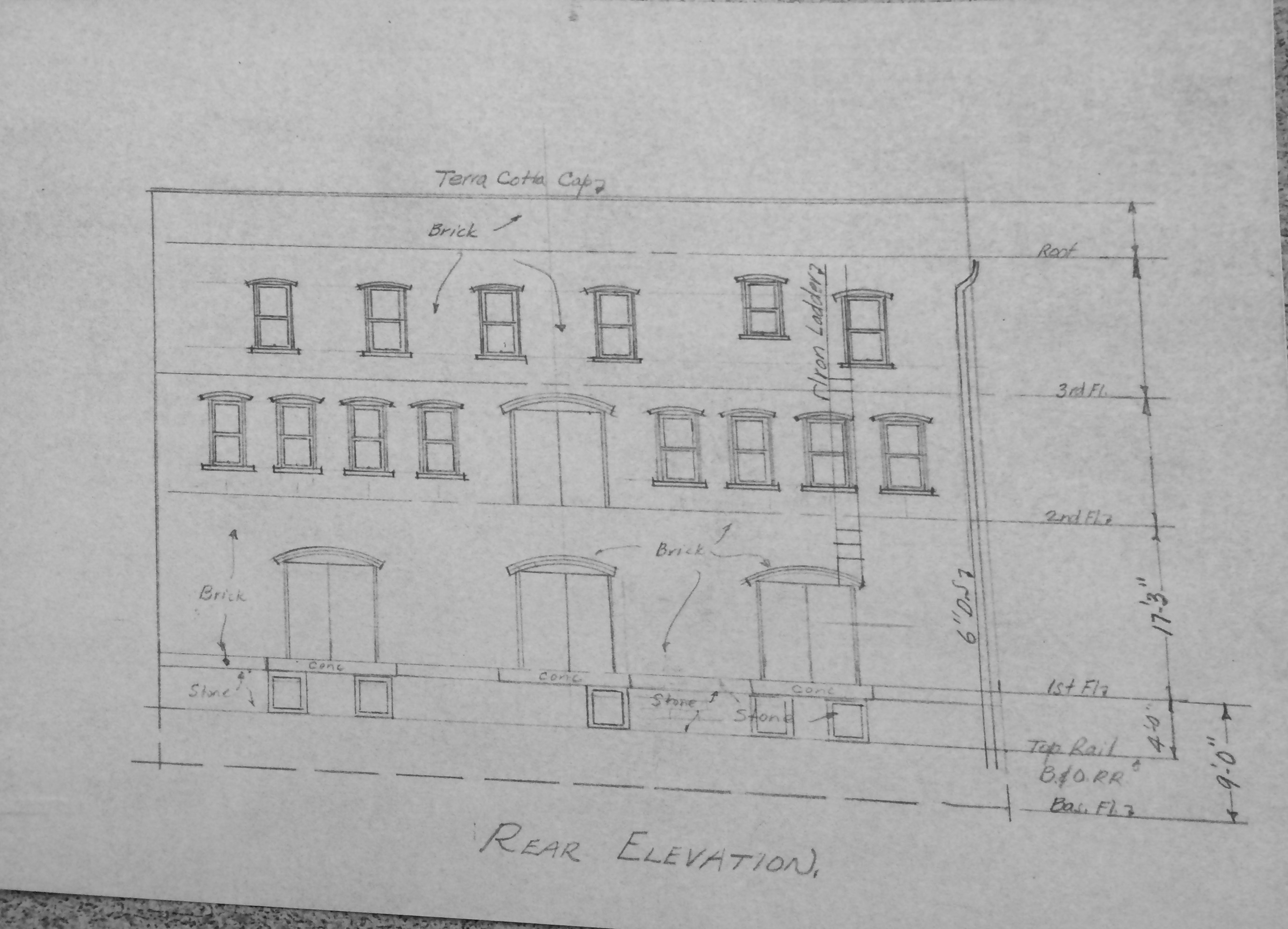 The original building plans for the Kincaid and Arnett Feed and Flour Building