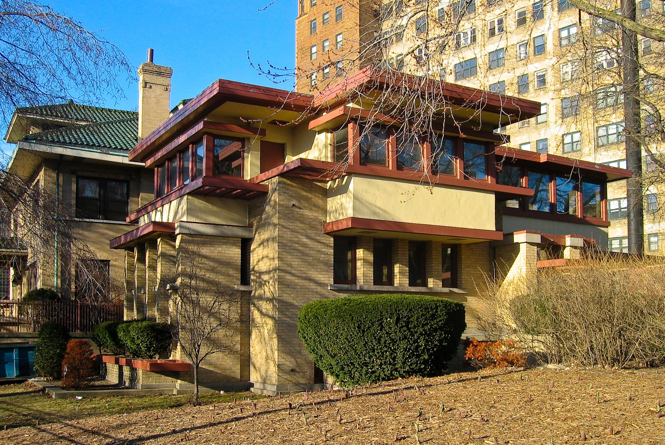 Emil Bach House (1915), Rogers Park neighborhood in Chicago, IL.