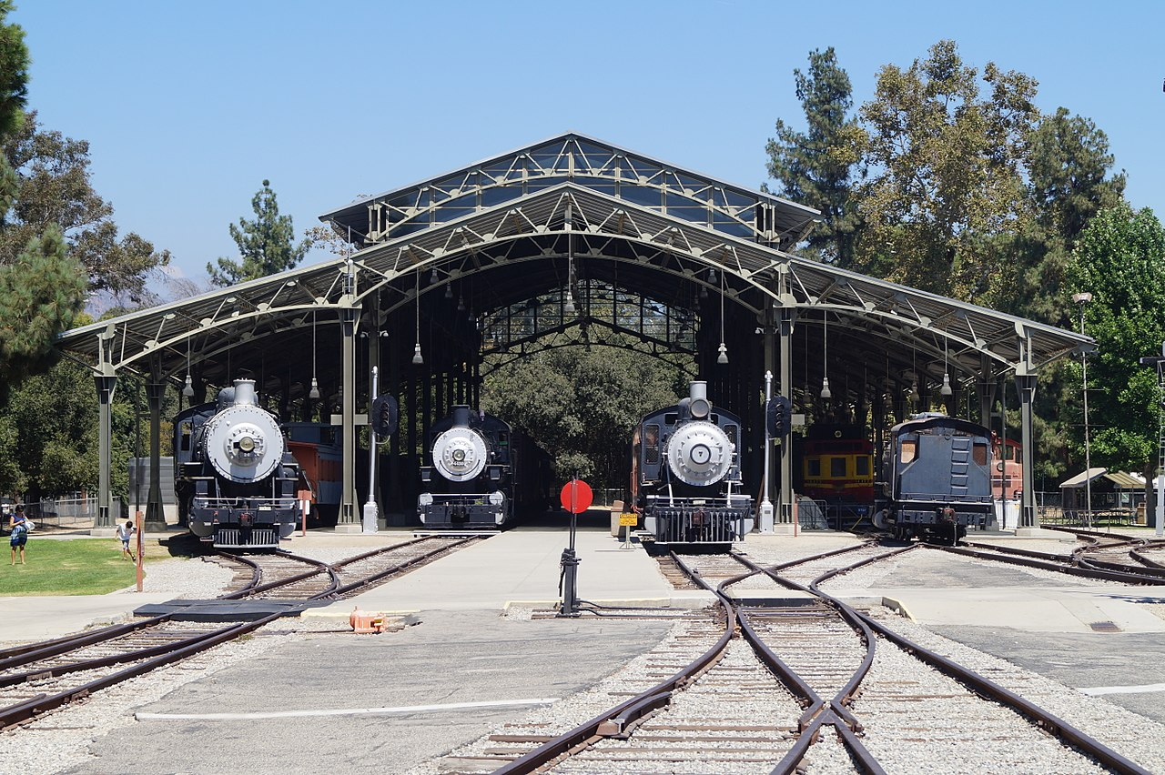 Travel Town Museum opened in 1952 and features numerous rolling stock in its collection.