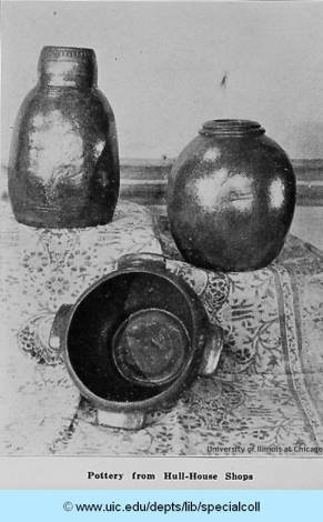 Pottery made at the Hull-House Kilns in 1927.