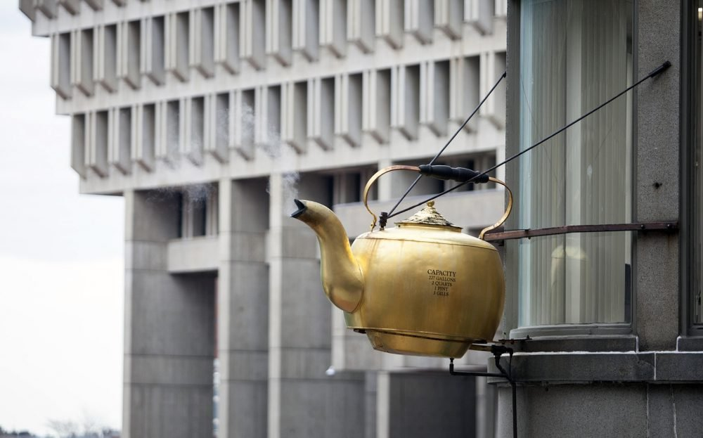The Giant Steaming Tea Kettle