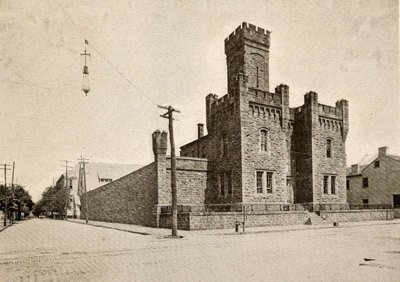 The jail as it looked prior tot he removal of its central tower.