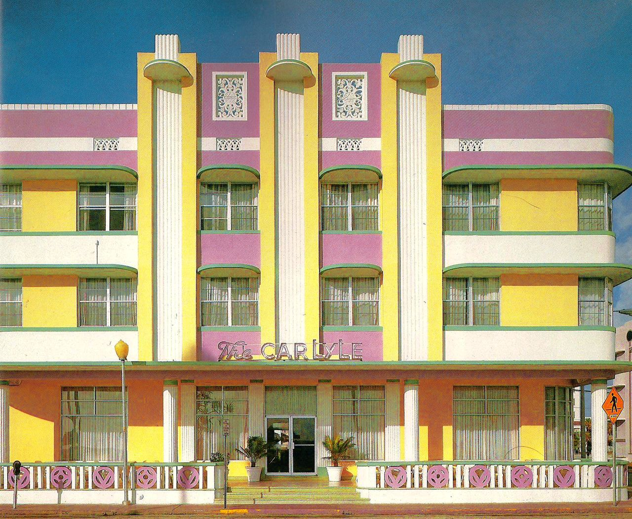 Pictured on cover of Tropical Deco: The Architecture and Design of Old Miami Beach by Laura Cerwinske, Random House Incorporated, 1981.