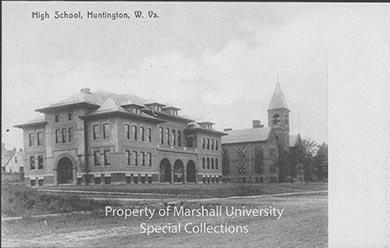 First Huntington High School, ca. 1910