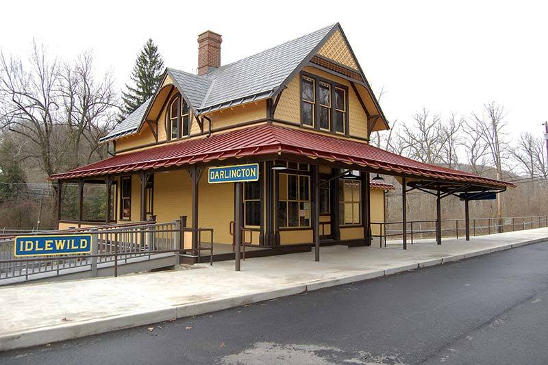 The Ligonier Valley Rail Road Museum is located in the restored Darlington Station, built around 1900.