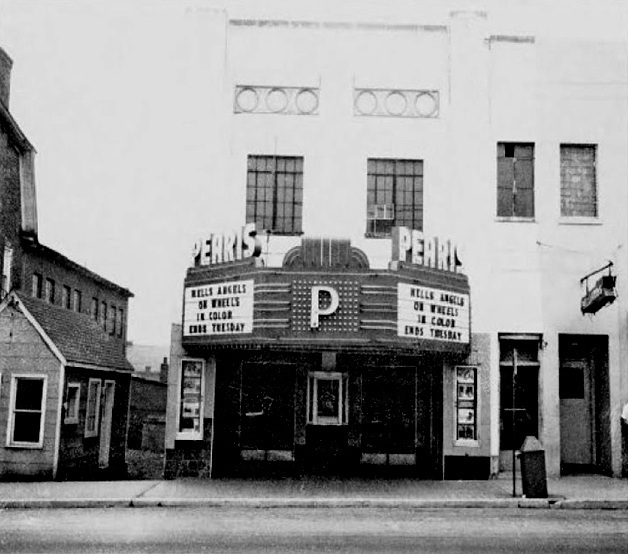A photo of the Pearis Theater, presumably taken in the late 60s.