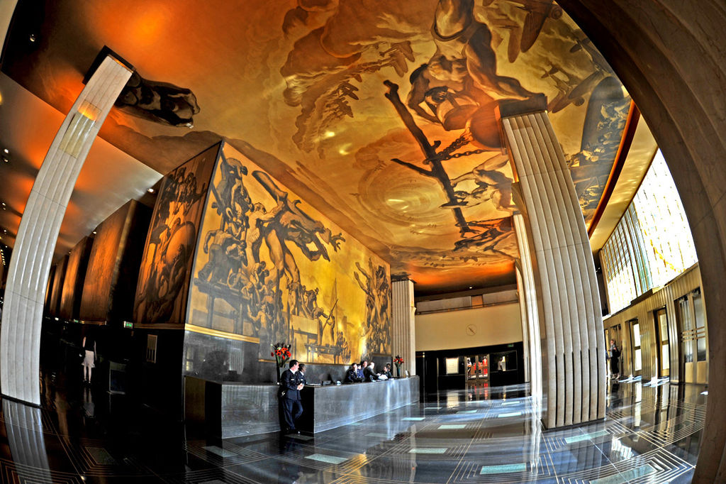 The mural American Progress in the lobby of the GE Building