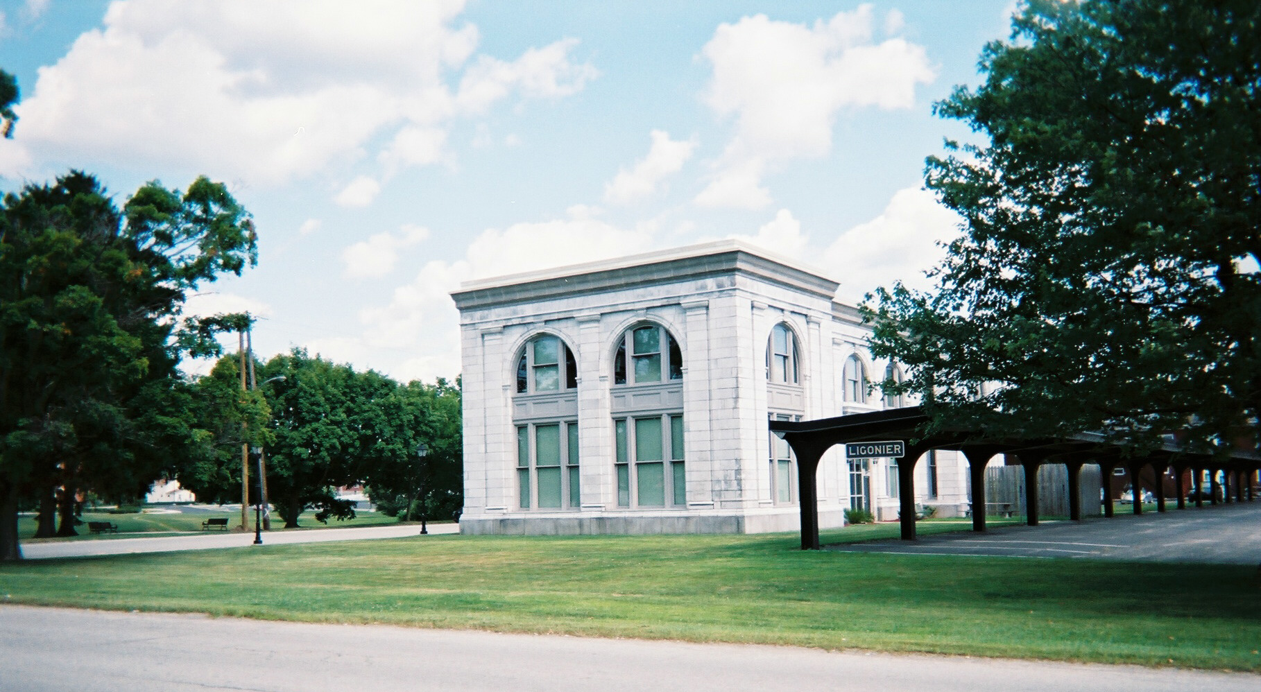 """The Liggie's"" former Ligonier depot and headquarters, now used as offices by the local school district."