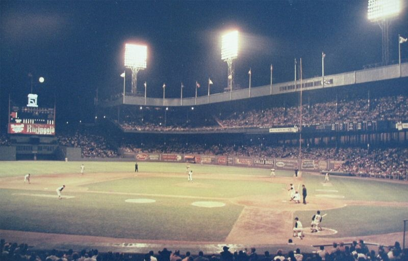 Polo grounds during a night game