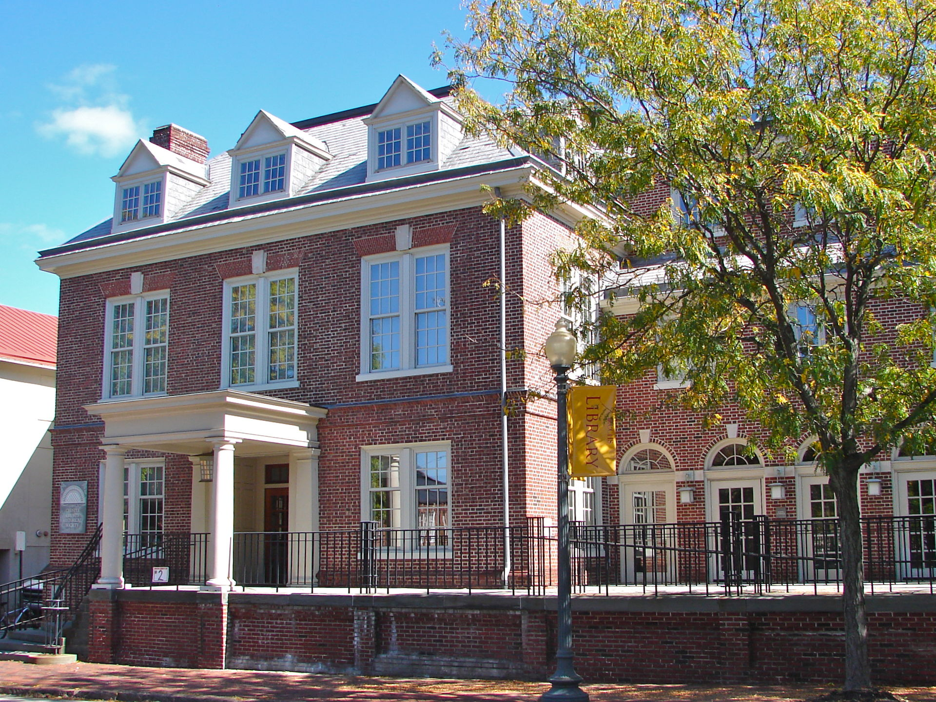 The Chester County Historical Society was established in 1908.