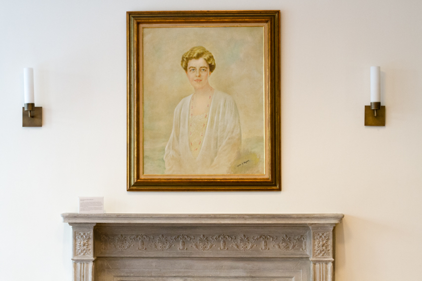 Portrait of Eleanor Roosevelt currently hanging in the Roosevelt House