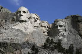 Presidents George Washington, Thomas Jefferson, Abraham Lincoln, and Theodore Roosevelt were selected to be faces for Mount Rushmore standing for America's birth, growth, development, and preservation.