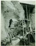 Gutzon Borglum oversees work on Mount Rushmore