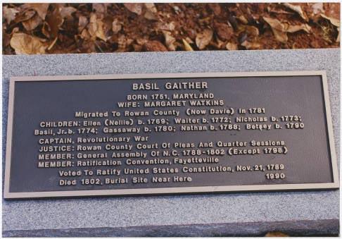 Basil Gaither Memorial Plaque located in Joppa Cemetery Credit: Digital Davie