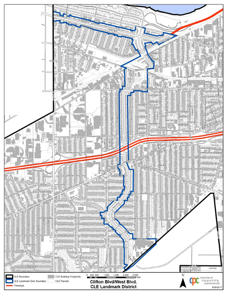Clifton & West Boulevard Historic District current boundaries