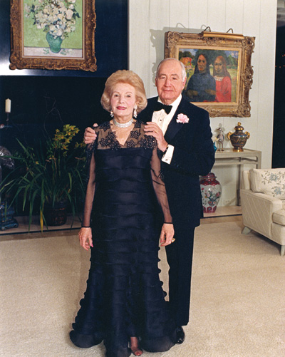 Walter and Leonore Annenberg before one of their famous New Year's Eve Parties at Sunnylands, 1988