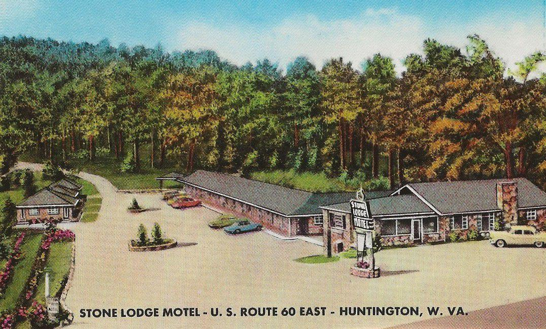 Vintage postcard of the Stone Lodge Motel
