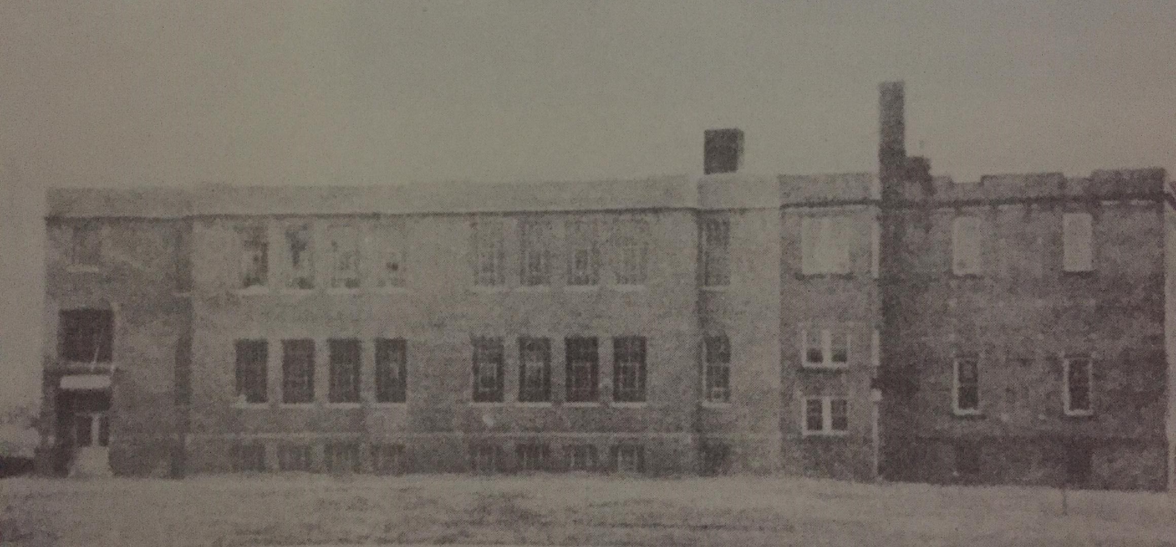 "The South Point Delta High School after the 1936 addition. From ""the History of the Village of South Point"""