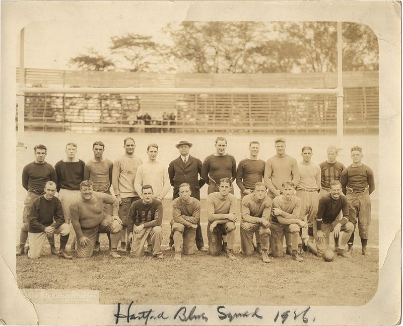 The 1926 Hartford Blues, after joining the NFL and leaving Bulkeley Stadium.
