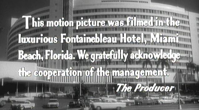 The Fontainebleau was the setting for Jerry Lewis's comedy film, The Bellboy (1960).
