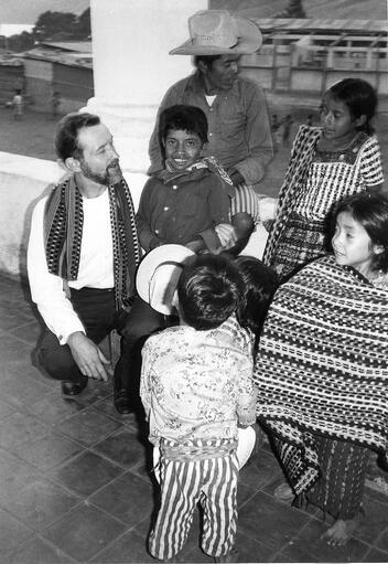 Rother with the Guatemalan people
