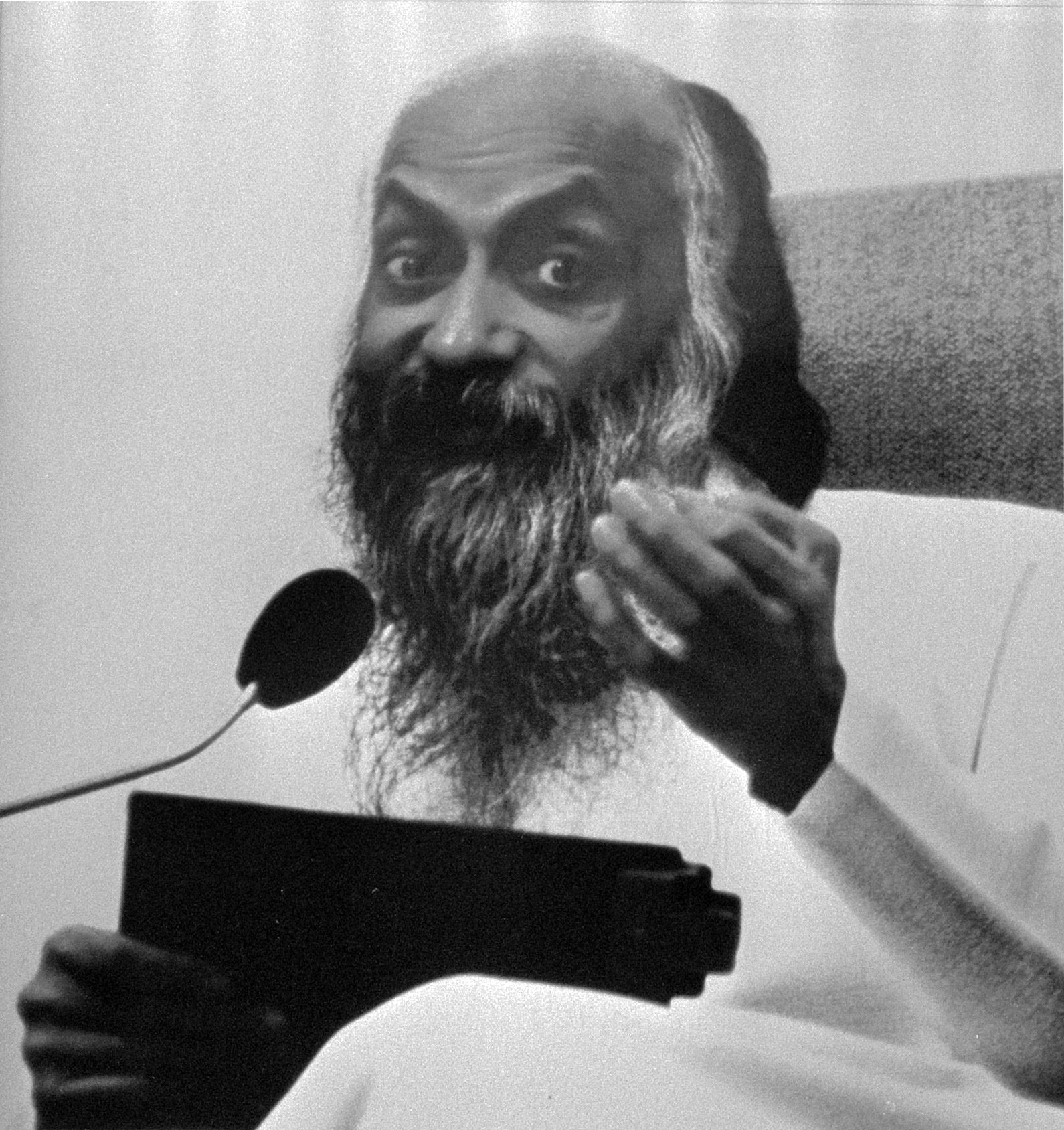 Bhagwan Shree Rajneesh, Osho. The leader of the Rajneeshee cult.