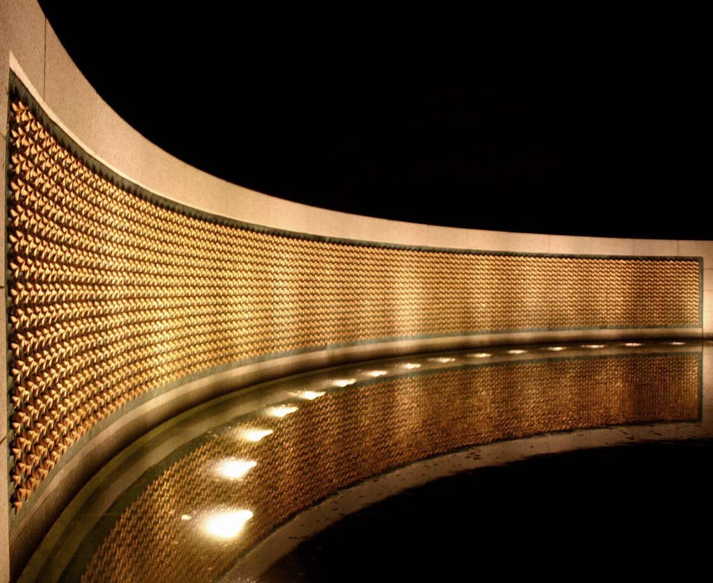 On the Price of Freedom memorial, each of the 4,048 gold stars represents 100 service personnel who gave the ultimate sacrifice. Photo courtesy of dbking on Flickr.