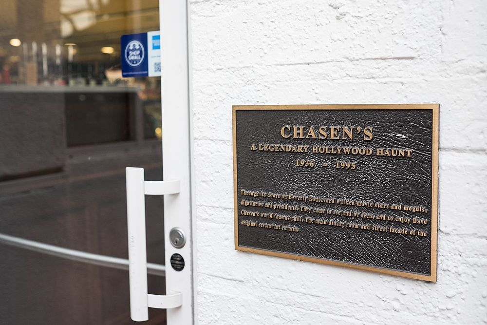 """Through its doors on Beverly Boulevard walked movie stars and moguls, dignitaries and presidents. They came to see and be seen, and to enjoy Dave Chasen's world famous chili. The main dining room and street facade of the original restaurant remain"""