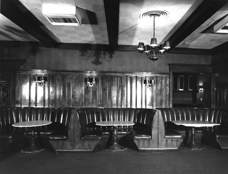 The interior of Chasen's, designed by Paul R. Williams