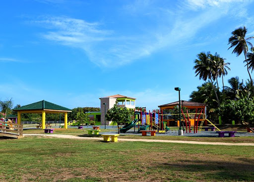 The playground and gazebo area is excellent for activities like children's birthdays or family activities.