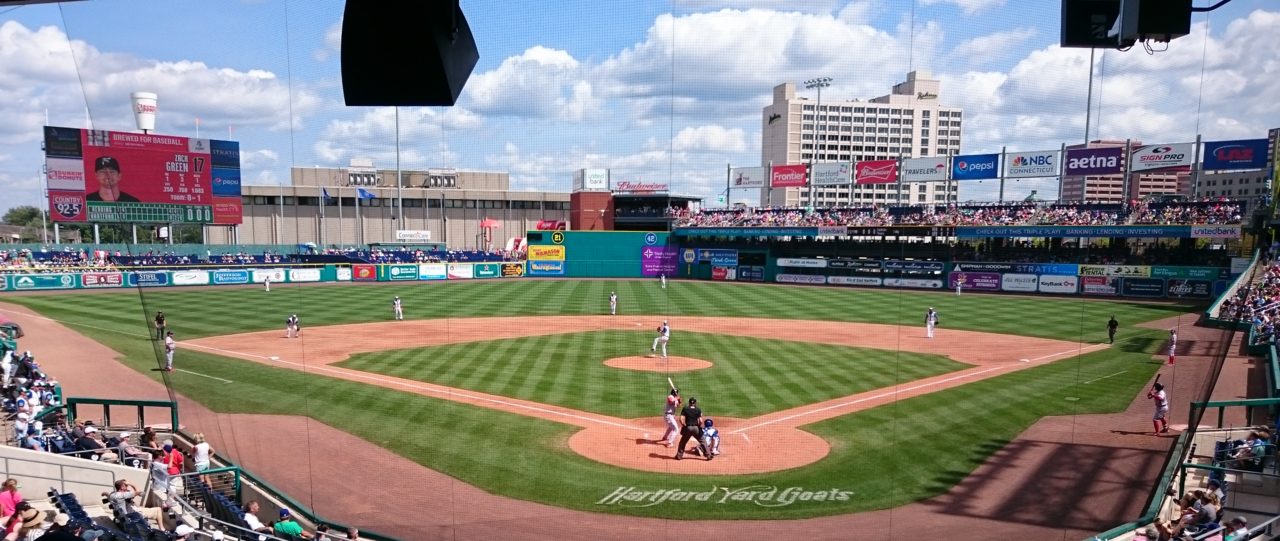 Yard Goats take on Reading Fightin' Phils at Dunkin' Donuts Park on Aug. 20, 2017...Goats lost :(