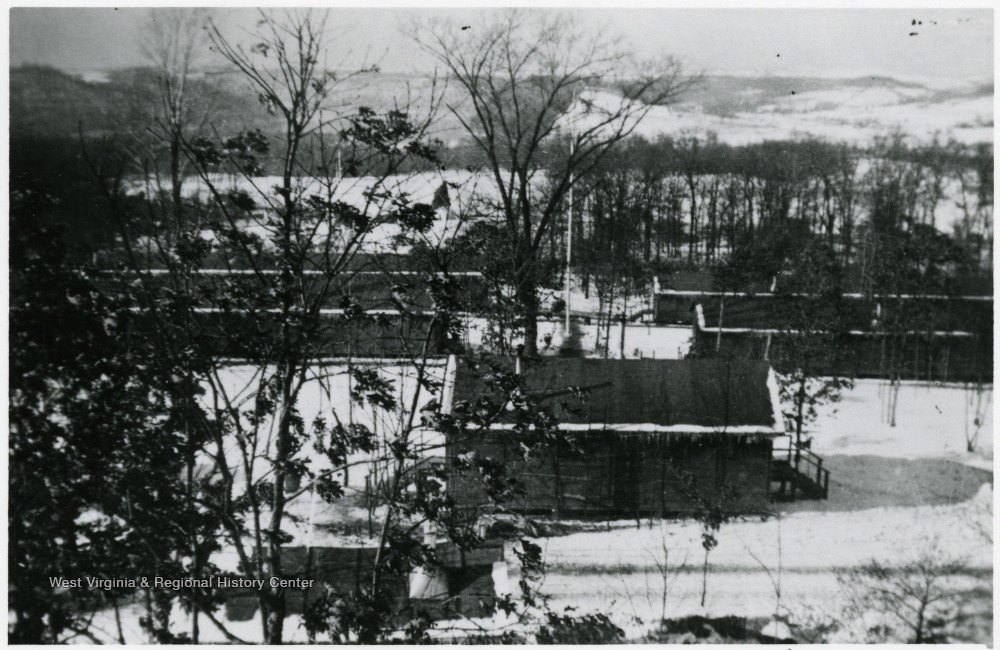 View of the temporary CCC camp buildings