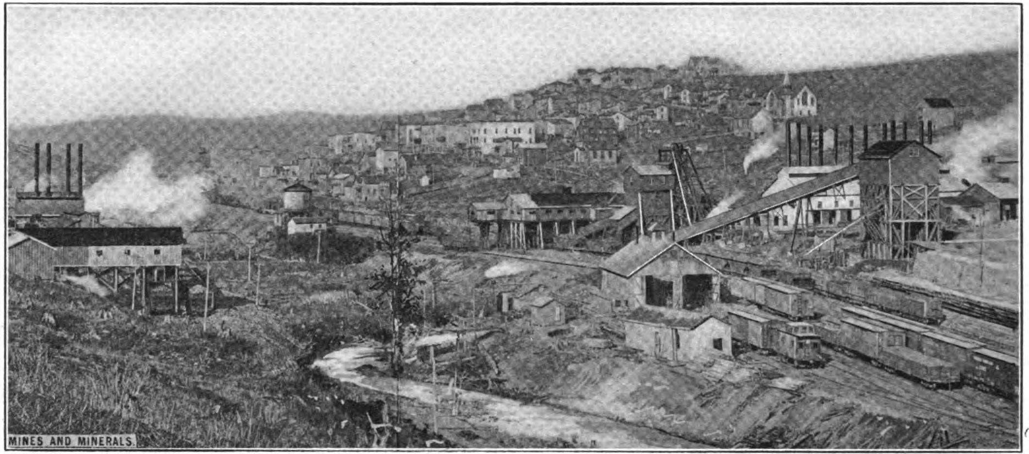 A David Coal and Coke Company mining operation in Thomas, WV in 1909
