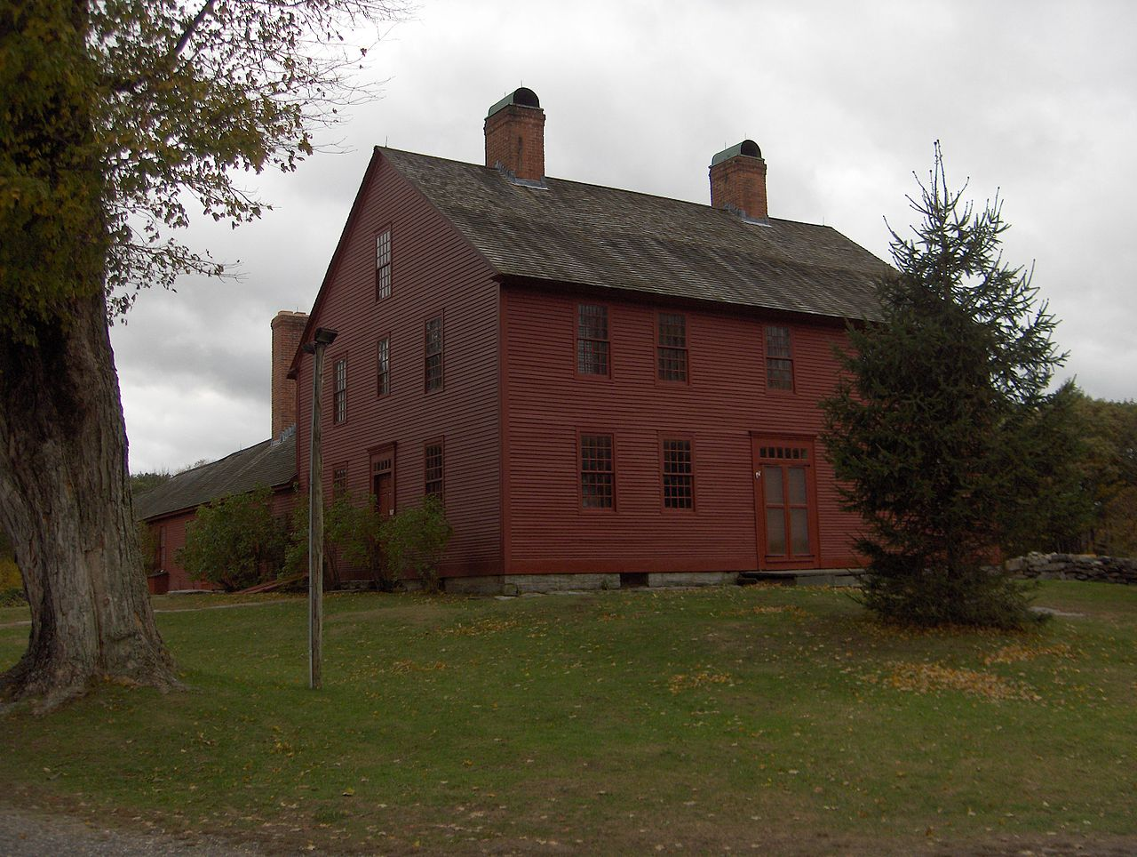 The Hale Homestead, home to the whole Hale family except for Nathan.