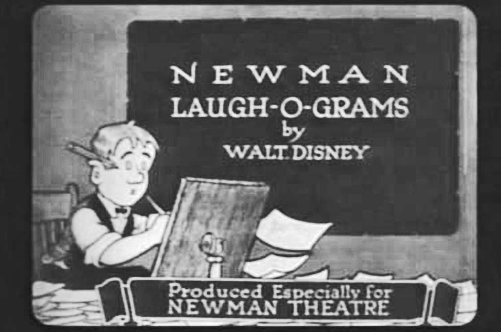 The Newman Laugh-O-Grams screened exclusively at the Newman in 1921. They were the first commercial cartoons ever produced by Walt Disney and aired to the public. Image obtained from Disney Finds.