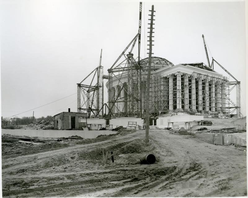 The Jefferson Memorial under construction in 1940. Photo courtesy of the National Park Service.