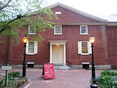 The Arch Street Meeting House is a National Historic Landmark and still in use