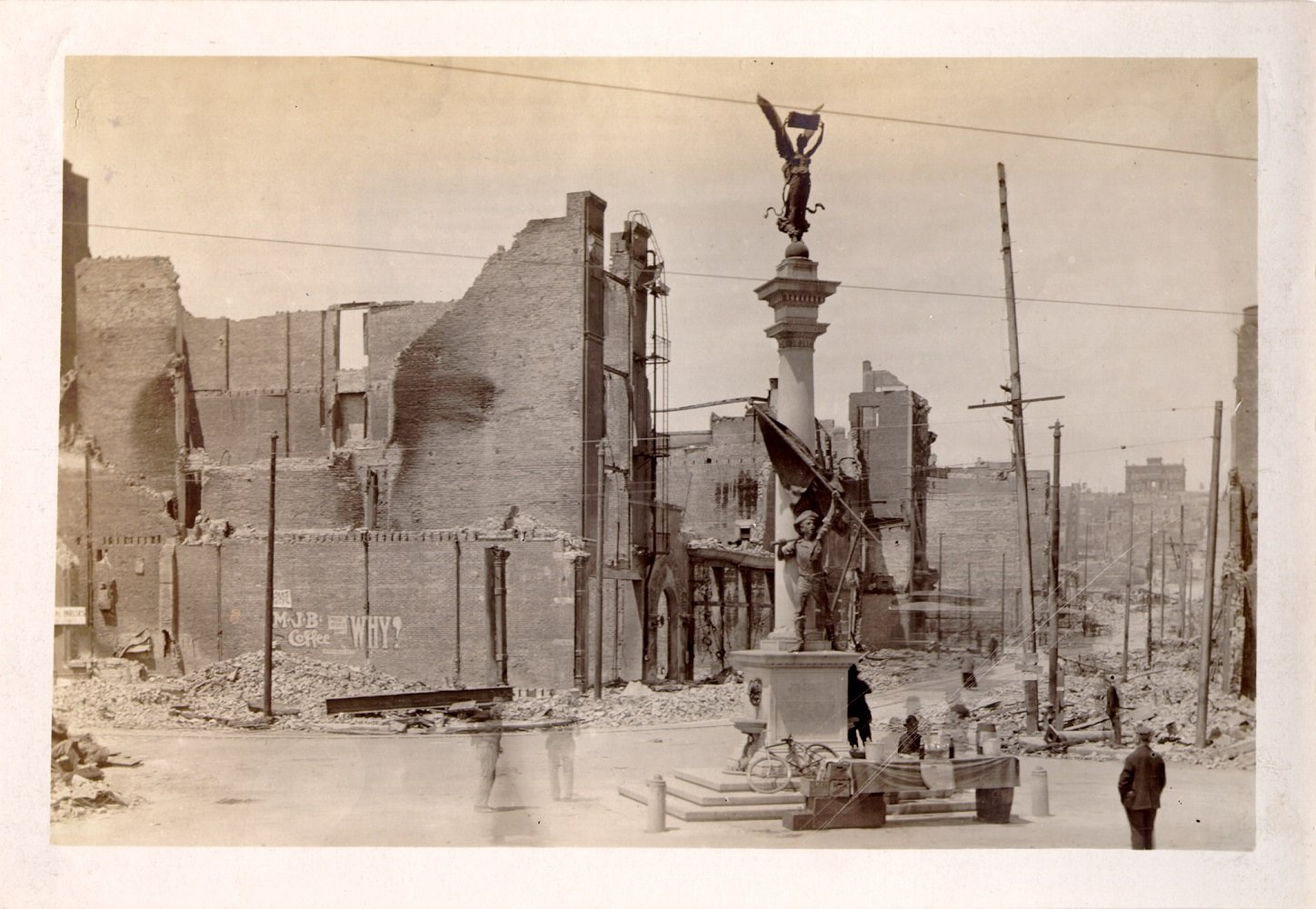 [Native Sons Monument at the intersection of Turk, Mason and Market streets]. 1906. Photo ID #AAC-4064. SAN FRANCISCO HISTORY CENTER, SAN FRANCISCO PUBLIC LIBRARY.