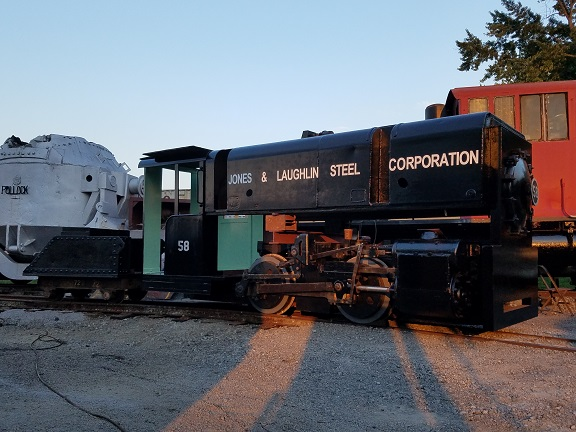 Jones & Laughlin Steel 58, a narrow gauge steam locomotive that will operate at the museum.