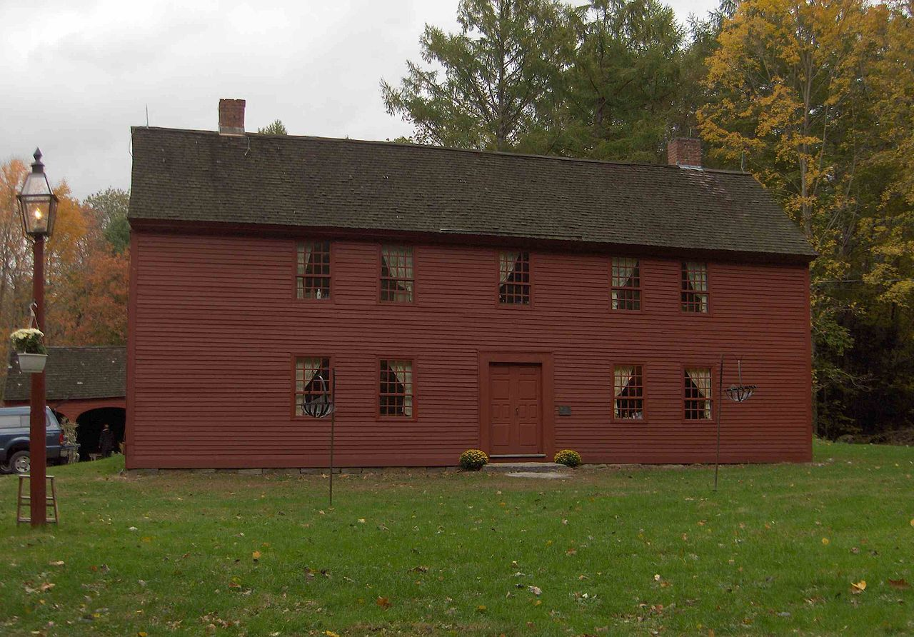 A front view of the Strong-Porter House.