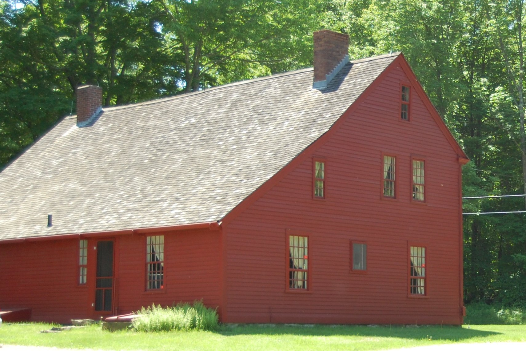 A rear view of the Strong-Porter House, showing the lean-to addition probably provided by the prolific Porters.