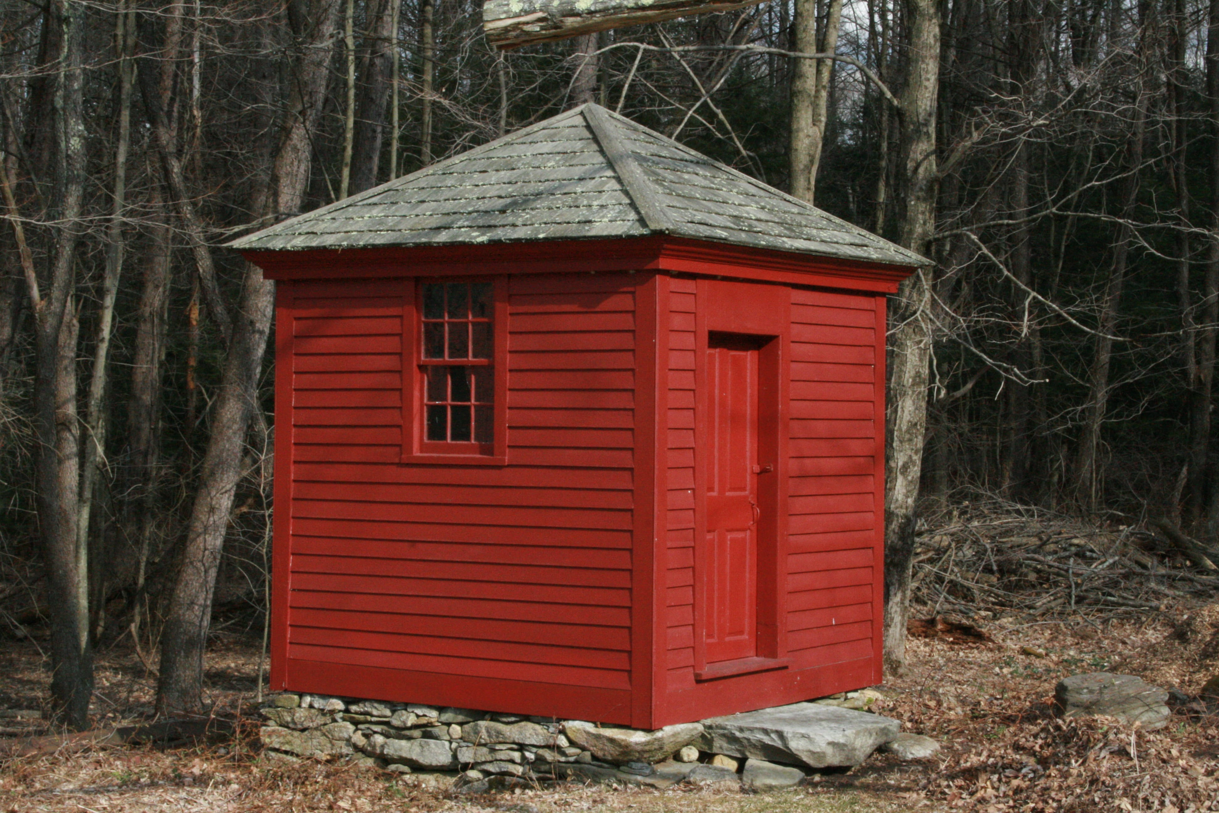 """The """"Lytle House"""" privy was restored and moved back to this historic home after substantial effort by local historians."""
