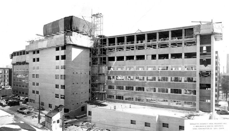 Schroeder Hall under construction.