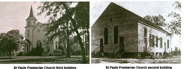 Images of the second and third church buildings