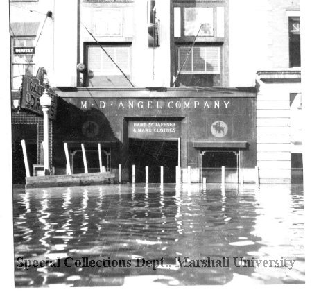 The Angel building during the flood of 1937