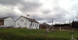 The Beulah Church and cemetery. From the Little White Church Blog.