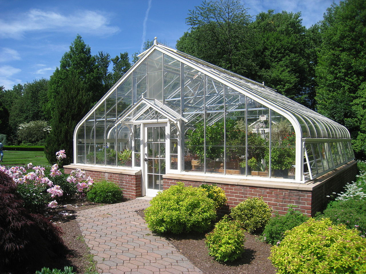 One of the historic, yet still-working, greenhouses.