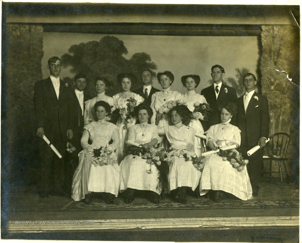Photo credit located in citations. A class of students at Kingwood Academy ca. 1900.
