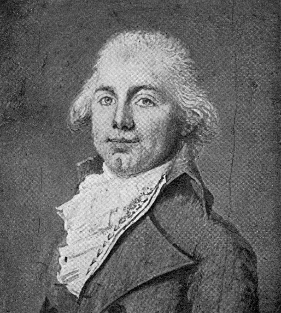 1794 portrait of James Monroe by Louis Semé
