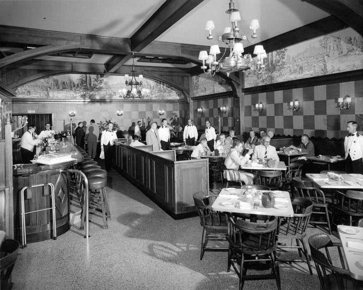 The main dining room as it appeared in the 1950s